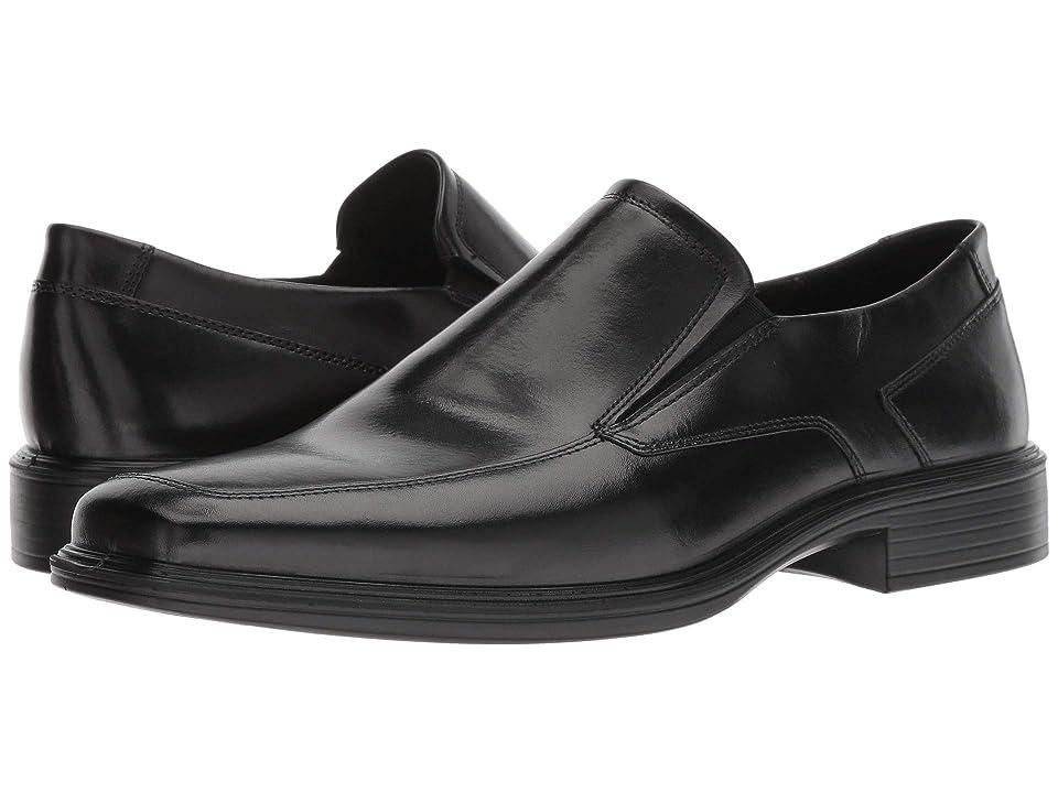 ECCO Minneapolis Slip-On (Black Cow Leather) Men