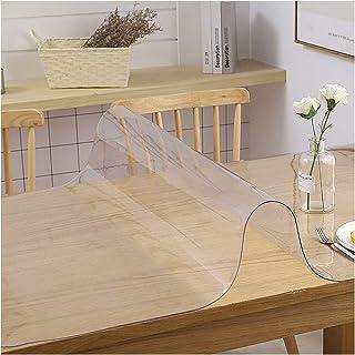 Tissu De Bureau Transparent Tapis En PVC Givré Anti-brûlure Tapis De Table En Verre Souple Antidérapant Pour Table À Mange...