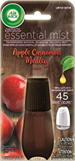 Air Wick Essential Oils Diffuser Mist Refill, Apple & Cinnamon, 1ct, Air Freshener
