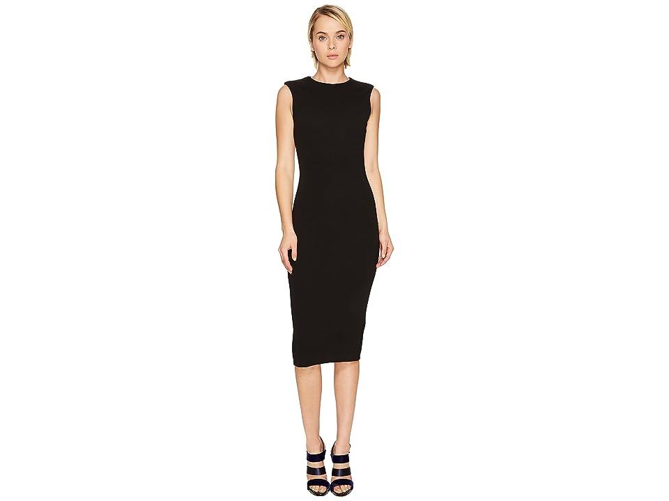 DSQUARED2 Wool Jersey Sleeveless Dress (Black) Women