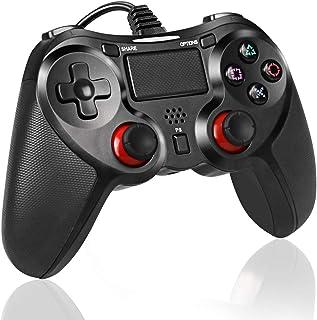 有線 ps4 コントローラー pro/slim 振動機能 DUALSHOCK 4 USB 接続 ps4 ゲームパッド ゲームコントローラー