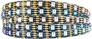 CHINLY WS2811 5m 100IC 300leds Tira de p/íxeles LED Flexible Tira direccionable individualmente Led Color ideal No impermeable PC12V PCB blanco