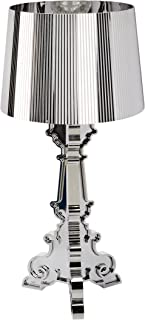 Kartell Bourgie, Lampe de Table, Avec Variateur de Lumière, Argent