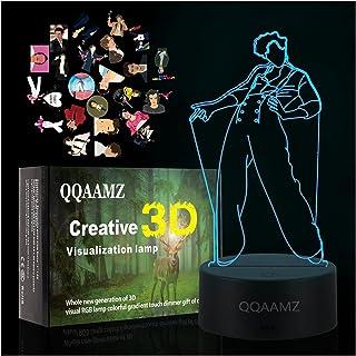 3d Led Night Light Harry Styles Fan Regalo Lampada Arredamento Camera Da Letto Led Cambia Colore Della Luce Sensore Tattil...