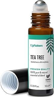 Tea Tree Essential Oil Roll-On - Melaleuca Oil - For Clear Skin - Easy Application TeaTree Oils Topical Roller, Leak-Proof...