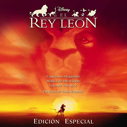 Tarjeta regalo con banda sonora rey leon