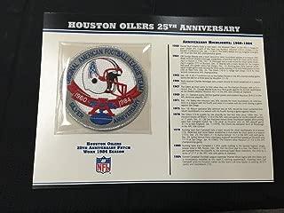 HOUSTON OILERS 25TH ANNIVERSARY 1984 SEASON TEAM PATCH CARD Willabee & Ward