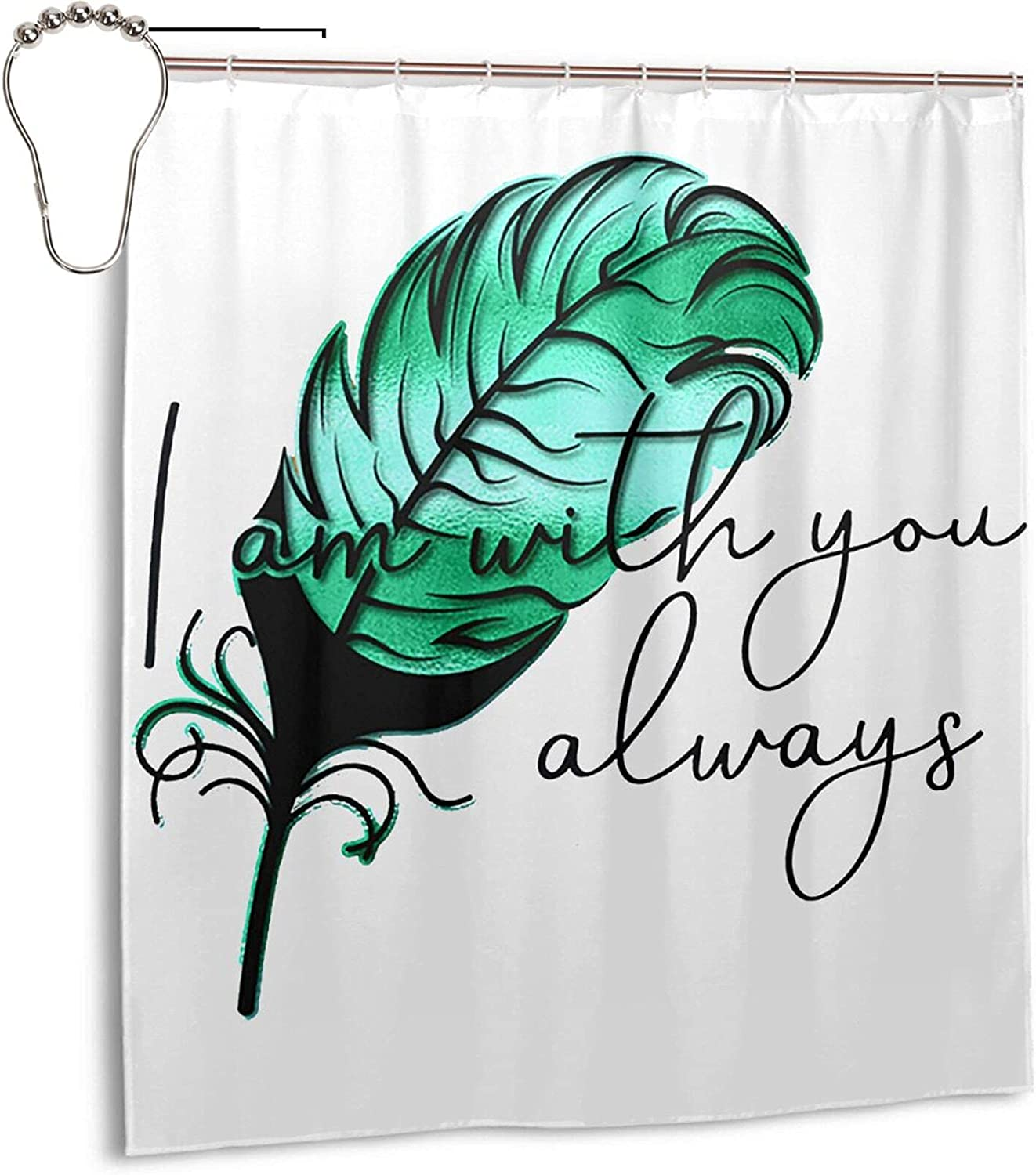Credence I Am with You Always Fabric Waterproof trust Shower Bath Curtain