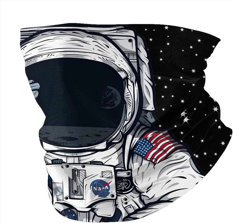 Nasa Astronaut Balaclava Face Masks Bandana Sun Uv Protection Neck Gaiter Masks Magic Scarf Neck Gaiter Windproof Scarf Sunscreen Breathable For Sport&Outdoor