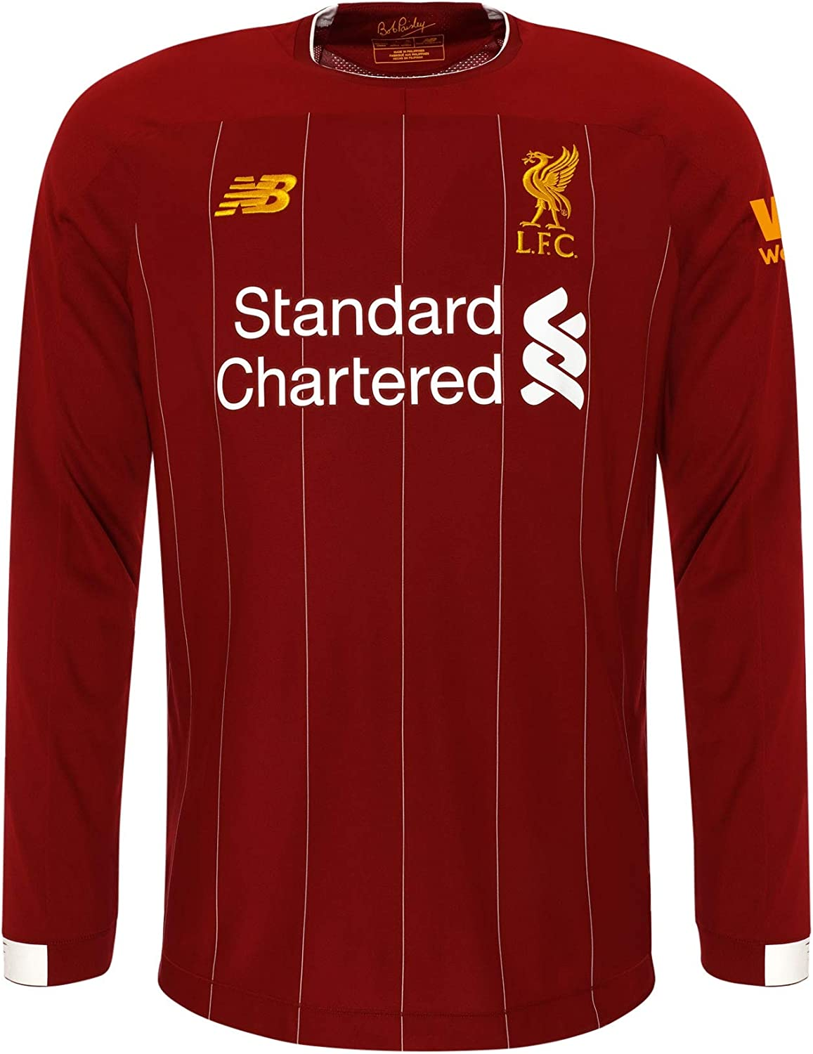 Liverpool FC Home Kit 2019 2020 Red Long Sleeve Polyester Boys Football Shirt LFC Official
