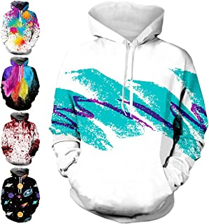 TUONROAD 3D Graphic Printed Hoodies Sweaters with Fleece Plush Lining Funny Realistic Sweatshirts Pullover for Men Women