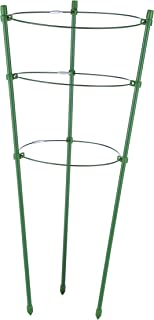 I-MART Tomato and Plant Support Cage, Stakes, Trellis, Gardening Climbing Growing Cages with Adjustable Rings (17.7 inches H, 3 Rings)