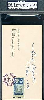 GEORGES CARPENTIER COA Autograph 1952 Envelope Hand Signed Authenticated - PSA/DNA Certified - Tennis Cut Signatures