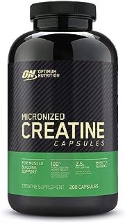 Optimum Nutrition Micronized Creatine Monohydrate Capsules, Keto Friendly, 2500mg, 200 Capsules (Packaging May Vary)