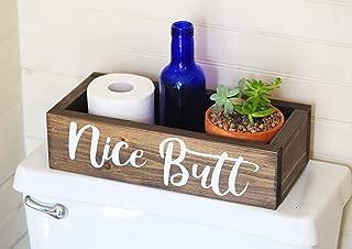 Nice Butt Bathroom Decor Box - Toilet Paper Holder - Farmhouse Rustic!