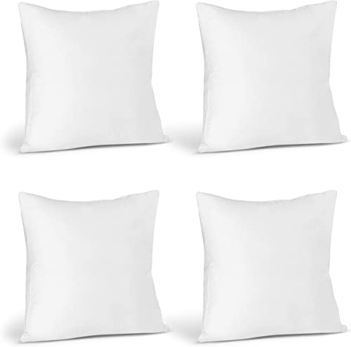 Utopia Bedding Throw Pillows Insert (Pack of 4, White) - 22 x 22 Inches Bed and Couch Pillows - Indoor Decorative Pil...