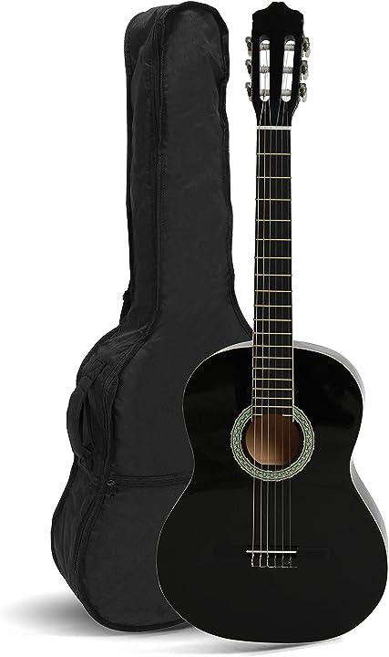 Chitarra classica con borsa, nero, 12 anni+  navarra nv12 4/4