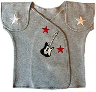 Jacqui's Baby Boys' Gray Rock Star NICU Approved T-Shirt