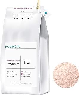 Sal Rosa Del Himalaya 1KG - Fina - Para Cocinar - 100% Puro Y Natural - Embalaje Ecológico En Papel Kraft Blanco