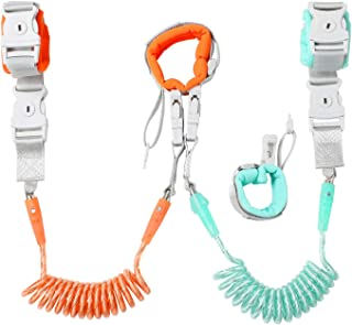 Shopping Pack of 2 Siyoo Toddler Child Harness Leash for Outdoor Activities Reflective Anti Lost Wrist Link with Child Lock 4.92ft Green /& 8.2ft Blue