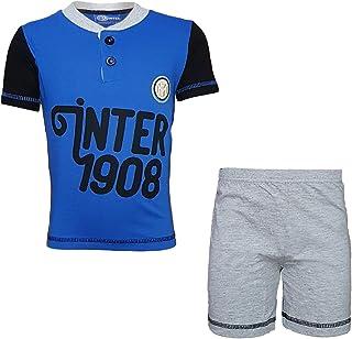 Pigiama Inter Ufficiale Corto Bambino Anni 6 7 8 con Canotta IN054GR