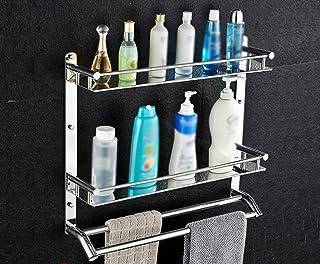 Wubing Engrosamiento del baño Capas cuadradas de un Solo baño Pared de la estantería Perforación de ángulo de una Sola Cap...