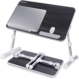 Laptop Bed Tray Table, Nearpow Adjustable Laptop Bed Stand, Portable Standing Table with Foldable Legs, Foldable Lap Tablet Table for Sofa Couch Floor - Medium Size