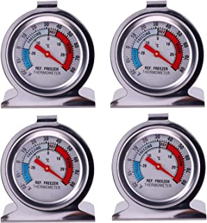 JSDOIN Freezer Refrigerator Refrigerator Thermometers Large Dial Thermometer 4 Pack (4 Pack)