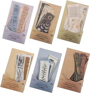 Artibetter 6 Ensembles Vintage Scrapbooking DIY Matériel Papier Journal Journal DIY Embellissement Fournitures pour Scrapb...