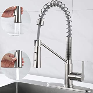 AMAZING FORCE Kitchen Faucet with Pull Down Sprayer, Commercial Kitchen Sink Faucet Single Handle Utility Sink Faucet Sing...