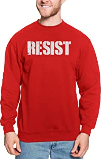 HAASE UNLIMITED Resist - Anti Trump Revolt Democrat Liberal Unisex Crewneck Sweatshirt