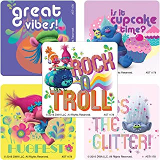 SmileMakers DreamWorks Trolls Stickers - Prizes 100 per Pack - from