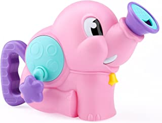 Zooawa Water Squirt Baby Bath Toy, Elephant Spray Water Pump Bathroom Bathtub Toys, Swimming Pool Water Playing Gift for Kids Toddlers, Pink