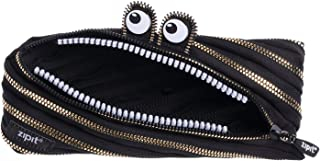 ZIPIT Monster Pencil Case Special Edition, Black & Gold
