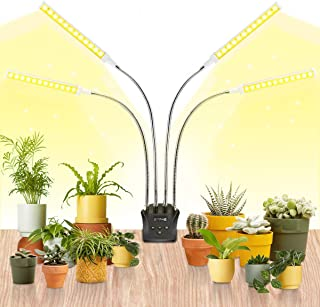 JandCase Plant Grow Light, Full Spectrum Plant Light with Auto ON/Off Timer, 4 Switch Modes & 10 Dimmable Brightness, Adju...