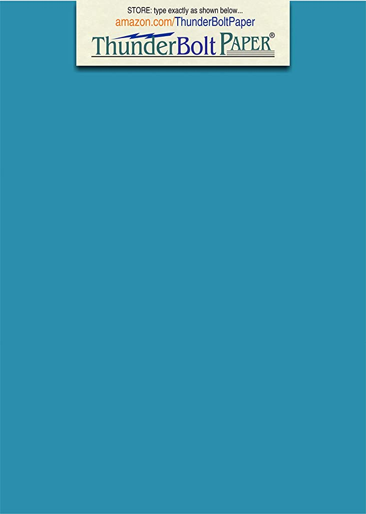 200 Bright Aqua Blue Color 65# Cover/Card Paper Sheets - 4.5 X 6.5 Inches (Between 4X6 & 5X7) Invitation Size - 65 lb/pound Light Weight Cardstock - Quality Smooth Paper Surface