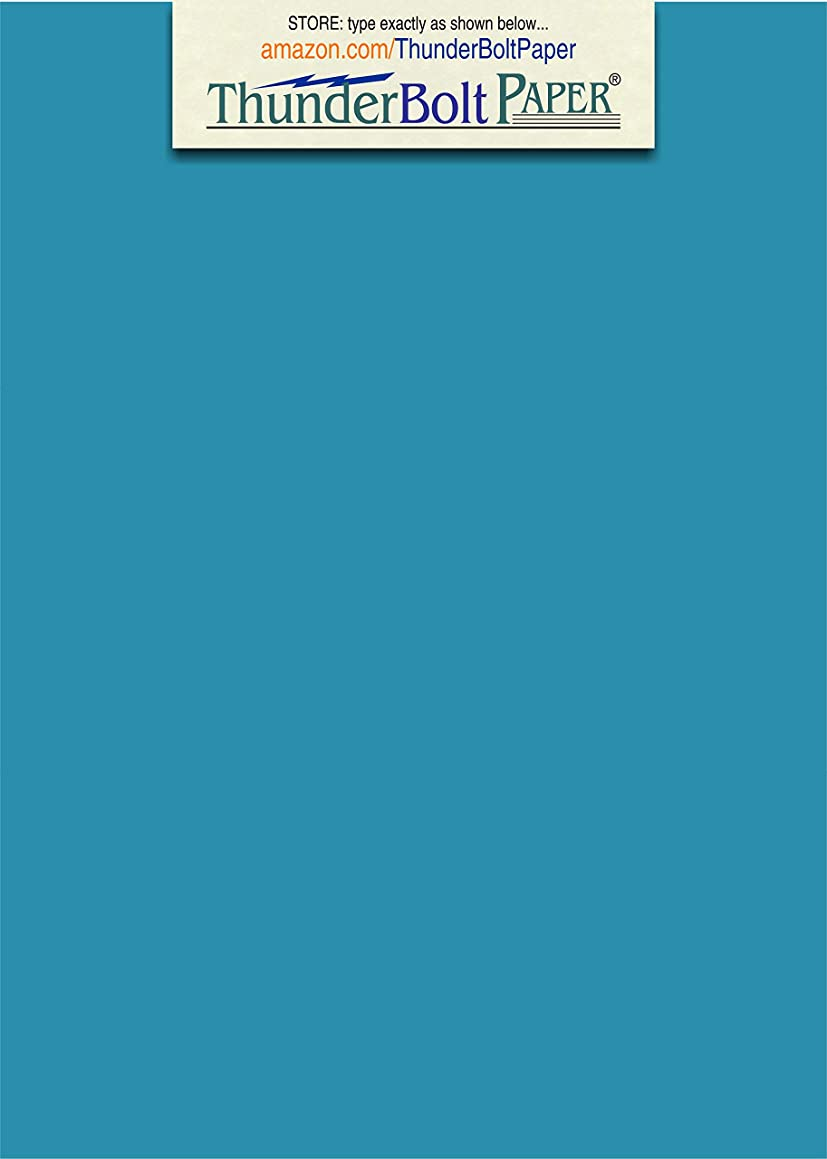 50 Bright Aqua Blue Color 65# Cover/Card Paper Sheets - 5 X 7 Inches Photo|Card|Frame Size - 65 lb/pound Light Weight Cardstock - Quality Smooth Paper Surface