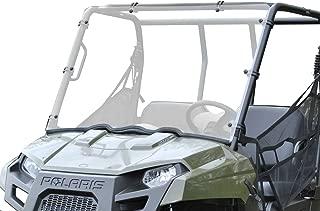 SuperATV Heavy Duty Scratch Resistant Full Windshield for Polaris Ranger Midsize 400/500/800/EV