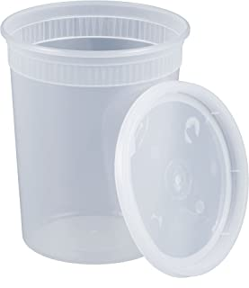 Pactiv [24 Sets-32 oz.] Plastic Deli Food Storage Containers with Airtight Lids
