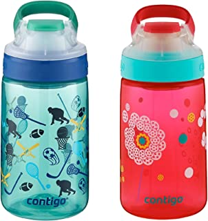 Contigo AUTOSEAL Gizmo Sip Kids Water Bottle 14oz Set Dandelion & Jungle Green