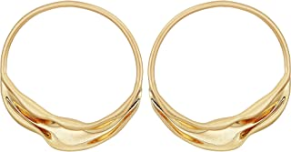 Rebecca Minkoff Organic Metal Front Facing Hoops Earrings Gold One Size