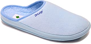 DrLuigi Medical Slippers for Women - House Slippers Memory Foam Shoes Indoor Outdoor Italian Cotton - Made in EU - Relieves Pressure, Improves Peripheral Blood Circulation