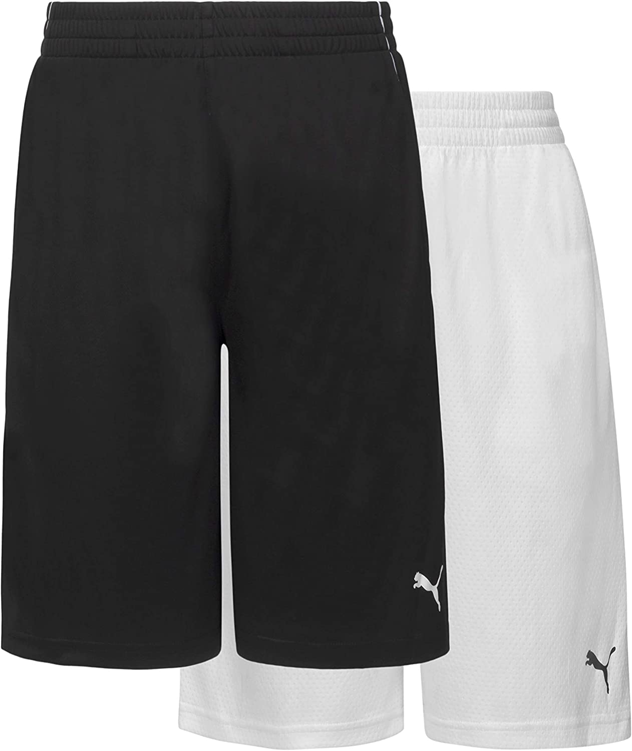PUMA Boys' 2pk Performance Mesh Outlet ☆ Free Shipping Logo Short Graphic New product!! Set