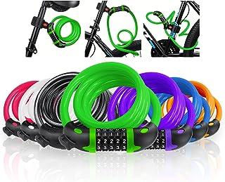 VLTAWA Premium Bike Lock with Mounting Bracket, 4 ft Portable Coiling Bike Cable Lock, 1/2 in Diameter High Security Bike ...