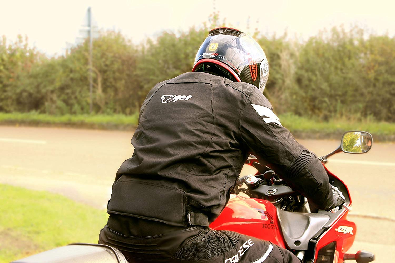 EU 50-52 , Grigio Argento JET Giacca Giubbotto Moto Uomo Impermiabile Con larmatura Tessile STRIKER L