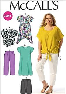 """McCall Pattern Company M6971 Women`s Top, Tunic, Dress, Shorts and Pants, Size KK """"26W-28W-30W-32W"""""""