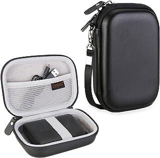 Canboc 防震便携箱存储旅行包适用于 Jackery Giant + 12000 mAh 10200mAh,Anker PowerCore 13000 便携式充电器移动电源外部电池保护袋盒4344266560 黑色