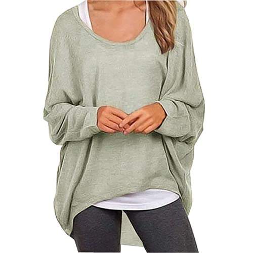 efb6db13ab658a UGET Women s Sweater Casual Oversized Baggy Off-Shoulder Shirts Batwing  Sleeve Pullover Shirts Tops