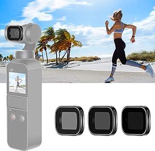 Neewer Set Filtros ND Magnéticos para dji Osmo Pocket Cámara de Mano Cardán Incluye Filtros con Recubrimiento Múltiple ND4 ND8 ND16 con Estuche (Marco Aleación de Aluminio Negro)