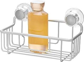(Basket) - InterDesign 20700 Silver Metro Rustproof Aluminium Turn-N-Lock Suction Shampoo Conditioner Soap Bathroom Shower...